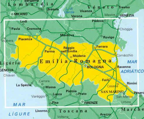 Cartina Topografica Emilia Romagna.Mappa Stradale Emilia Romagna Emilia Romagna Foglio 6