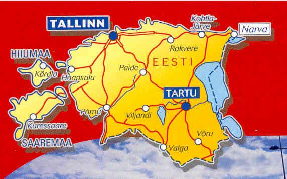 immagine di mappa stradale mappa stradale n.782 - Estonia