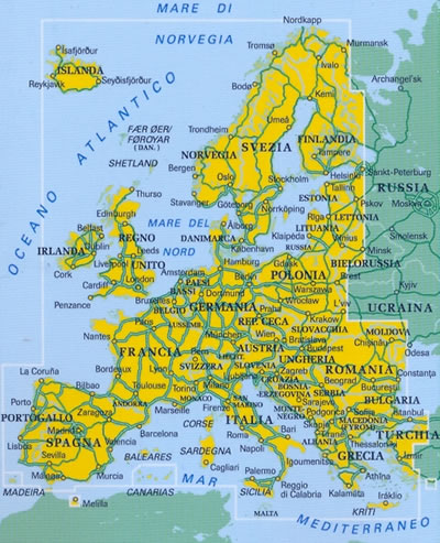 Atlante stradale europa atlante stradale con mappe di - Mappa di ungheria ed europa ...