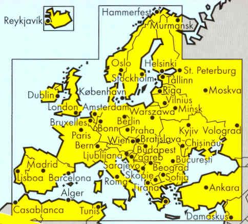 immagine di mappa stradale mappa stradale Europa / Europe