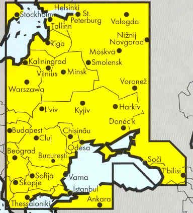 immagine di mappa stradale mappa stradale Europa Orientale / Eastern Europe / Osteuropa