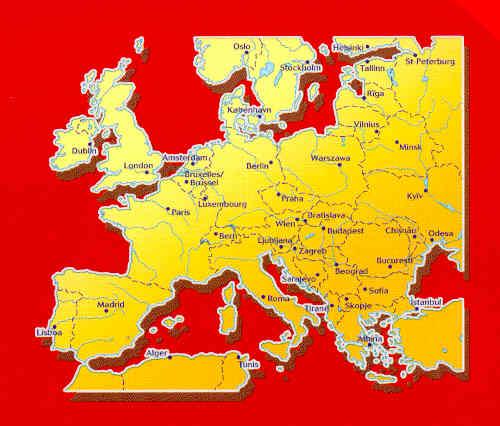immagine di mappa stradale mappa stradale n.705 - Europa - mappa stradale - nuova edizione