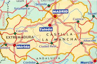 Cartina Spagna Toledo.Mappa Stradale N 576 Extremadura Castilla La Mancha Madrid Spagna Centrale Con Merida E Toledo