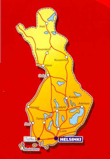 immagine di mappa stradale mappa stradale n.754 - Finlandia