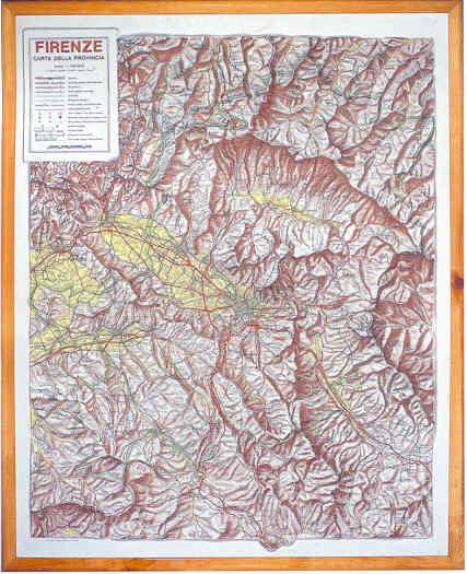 immagine di mappa in rilievo mappa in rilievo Firenze