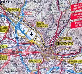 Mappa topografica firenze e dintorni mappa for Bagno a ripoli mappa
