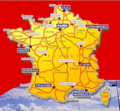 immagine di mappa stradale mappa stradale n.721 - Francia