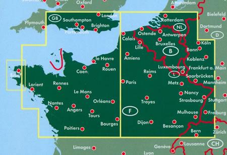 Cartina Nord Francia.Mappa Stradale Francia Nord Edizione 2017