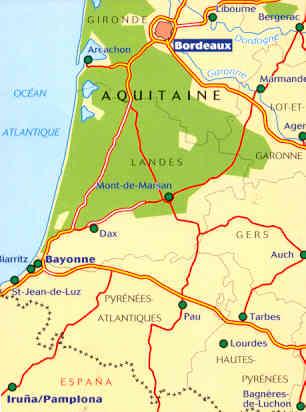 Cartina Stradale Francia Michelin.Mappa Stradale 525 Francia Aquitaine Aquitania