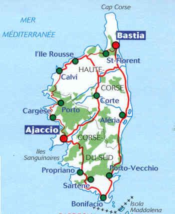 cartina stradale corsica da