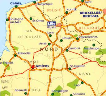 Cartina Nord Francia.Mappa Stradale 511 Francia Nord Flandres Artois Picardie