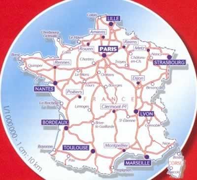 immagine di mappa stradale mappa stradale n.792 - Francia / France - mappa plastificata