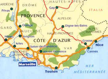 Cartina Costa Azzurra.Mappa Stradale 528 Francia Provence Provenza Cote D
