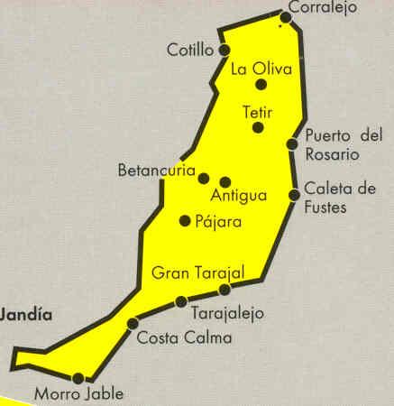 immagine di mappa stradale mappa stradale Fuerteventura - Isole Canarie