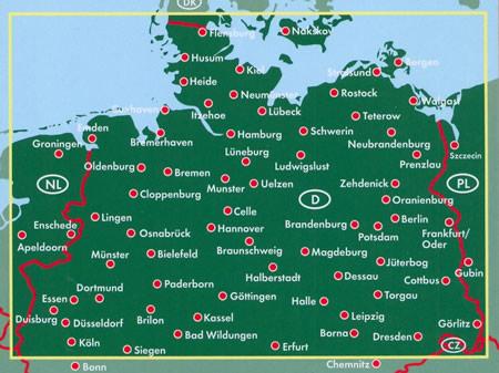 immagine di mappa stradale mappa stradale Germania Nord
