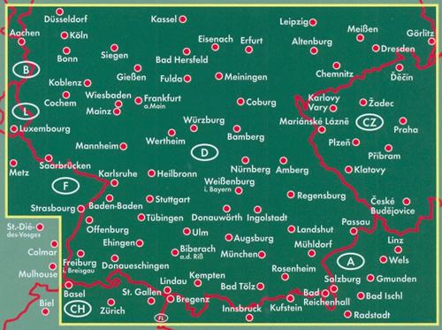 Germania Del Sud Cartina.Mappa Stradale Germania Sud Edizione 2020
