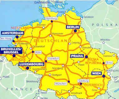 Immagini Cartina Geografica Germania.Mappa Stradale 719 Germania Benelux Austria E Rep Ceca