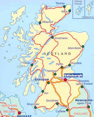 Scozia Cartina Stradale.Mappa Stradale N 501 Gran Bretagna Scozia Scotland Con Edinburgo E Glasgow
