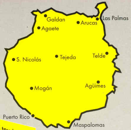 Isole Gran Canarie Cartina.Mappa Stradale Gran Canaria Isole Canarie