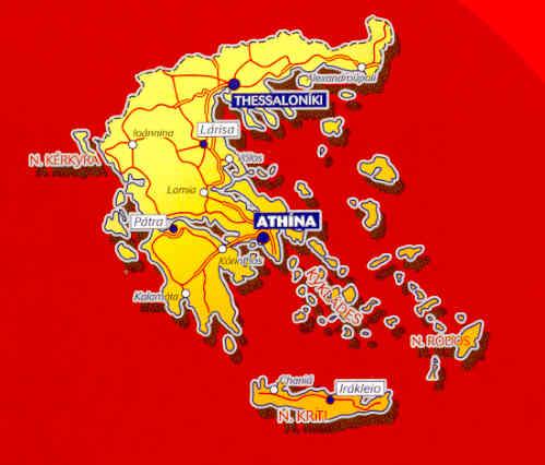 immagine di mappa stradale mappa stradale n.737 - Grecia