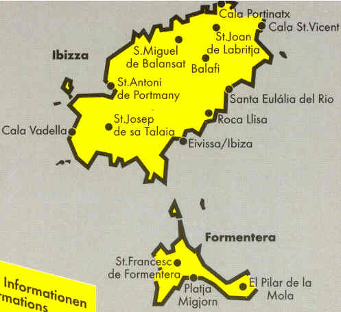 immagine di mappa stradale mappa stradale Ibiza e Formentera