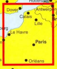 immagine di mappa stradale mappa stradale Ile de France, Normandia, Fiandre - nuova edizione
