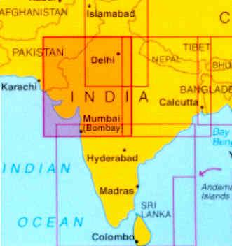 immagine di mappa stradale mappa stradale India 2 - Ovest