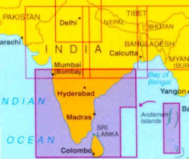 immagine di mappa stradale mappa stradale India 4 - Sud