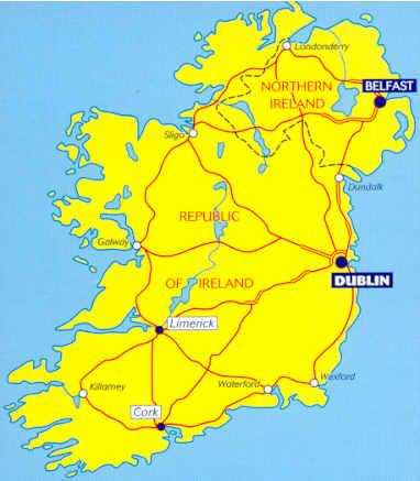 immagine di mappa stradale mappa stradale 712 - Irlanda