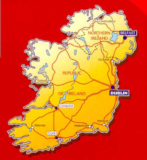 immagine di mappa stradale mappa stradale n.712 - Irlanda
