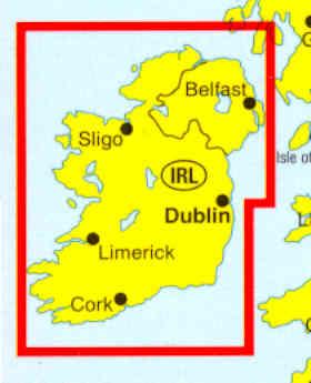 immagine di mappa stradale mappa stradale Irlanda: Eire, Irlanda del Nord