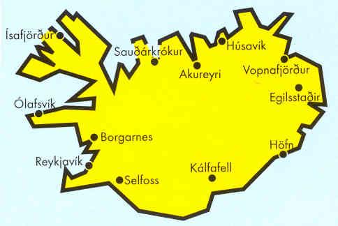 immagine di mappa stradale mappa stradale Islanda