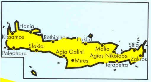 immagine di mappa stradale mappa stradale Isola di Creta / Kreta