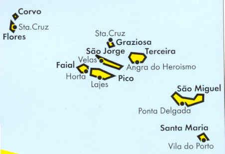 immagine di mappa stradale mappa stradale Isole Azzorre
