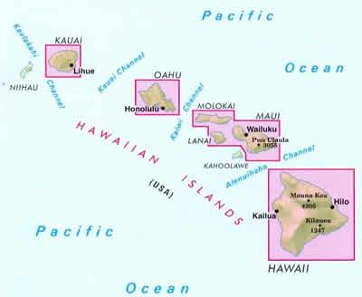 Cartina Mondo Hawaii.Mappa Stradale Isole Hawaii Con Kauai Oahu Honolulu Molokai Lanai Maui Hawaii