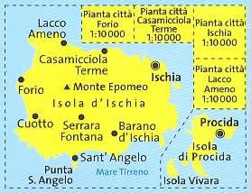 immagine di mappa topografica mappa topografica n.680 - Isole d' Ischia e Procida - mappa plastificata, compatibile con GPS - nuova edizione