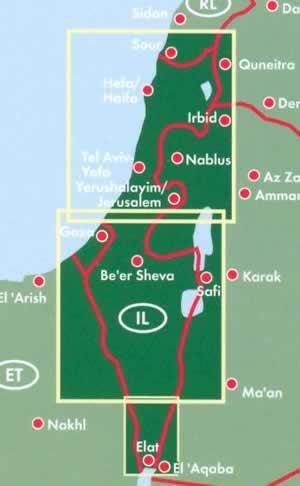 immagine di mappa stradale mappa stradale Israele, Palestina e Terra Santa