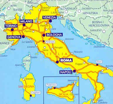 Cartina Italia Michelin.Mappa Stradale 735 Italia