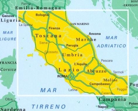immagine di mappa stradale mappa stradale n.2 - Italia centrale - edizione 2008