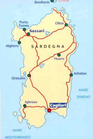 Cartina Michelin Sardegna.Mappa Stradale 566 Italia Sardegna