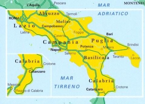 Mappa Stradale N3 Italia Meridionale Senza Sicilia Edizione 2008