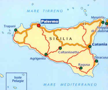 Cartina Strade Sicilia.Mappa Stradale 565 Italia Sicilia