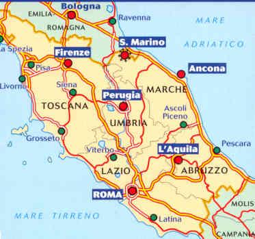 immagine di mappa stradale mappa stradale n.563 - Italia Centrale - con Toscana, Umbria, Lazio, Marche, Abruzzo, Rep. San Marino - nuova edizione