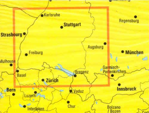 Lago Di Costanza Germania Cartina.Mappa Stradale Lago Di Costanza E Foresta Nera Con Stuttgart Freiburg Bregenz Zurich Edizione 2013