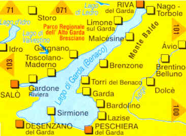 Cartina Stradale Lago Di Garda.Mappa Topografica N 102 Lago Di Garda Monte Baldo