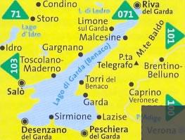 Cartina Topografica Lago Di Garda.Mappa Topografica N 102 Lago Di Garda Monte Baldo Riva Del Garda Salo Desenzano Del Garda Sirmione Lago D Idro Caprino Veronese Lago Di Ledro Storo Compatibile Con Gps Mappa Panoramica