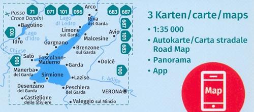 Cartina Topografica Lago Di Garda.Mappa Topografica N 697 Lago Di Garda Monte Baldo Arco Riva Del Garda Rovereto Dolce Bussolengo Verona Peschiera Desenzano Castiglione Delle Stiviere Manerba Salo Lago D Idro Lago Di Ledro Set