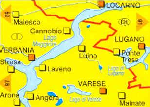 Lago Maggiore Cartina Stradale.Mappa Topografica N 90 Lago Maggiore E Lago Di Varese Con Verbania Stresa Laveno Luino Varese Locarno Lugano
