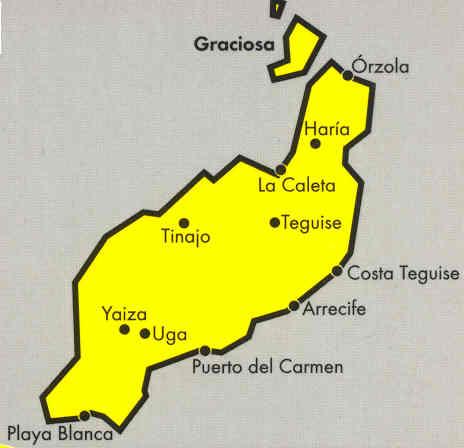immagine di mappa stradale mappa stradale Lanzarote - Isole Canarie