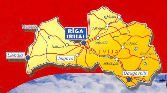 immagine di mappa stradale mappa stradale n.783 - Lettonia